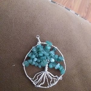 Hand made, Tree of life pendant, wire wrap